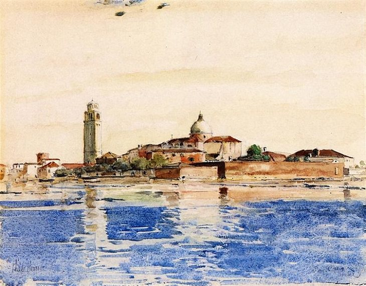 Frederick Childe Hassam, San Pietro, Venice, 1883