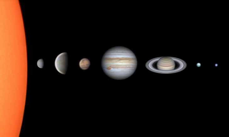 """""""Sistema Solar Através do Meu Telescópio"""" de Vinicius Martins (Brasil)"""