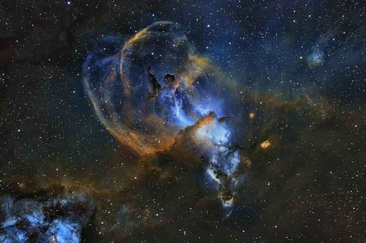 """""""Nebulosa da Estátua da Liberdade"""", de Martin Pugh (Austrália)"""