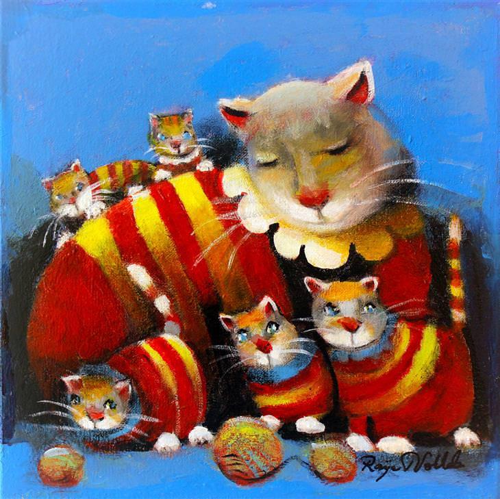 Arte naïf - gatos