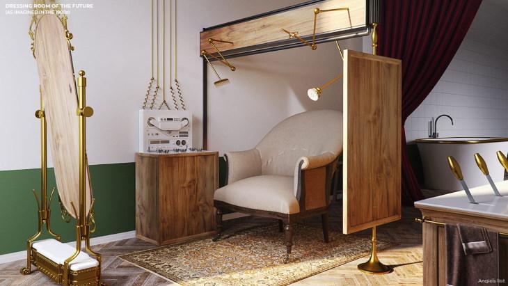 A casa do futuro imaginada por nossos ancestrais quarto de vestir