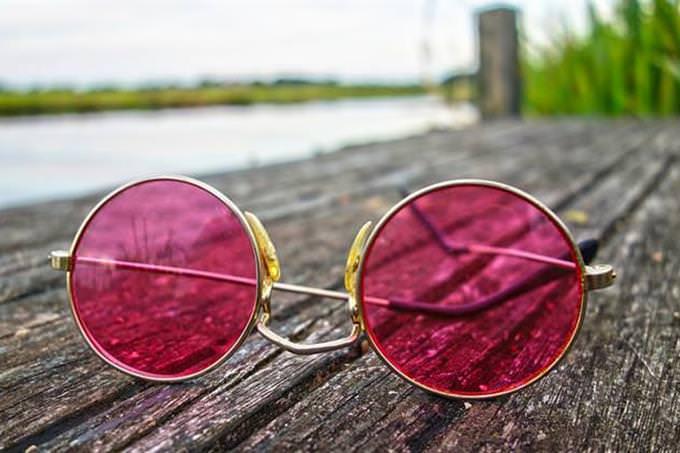 Sunglasses on a dock