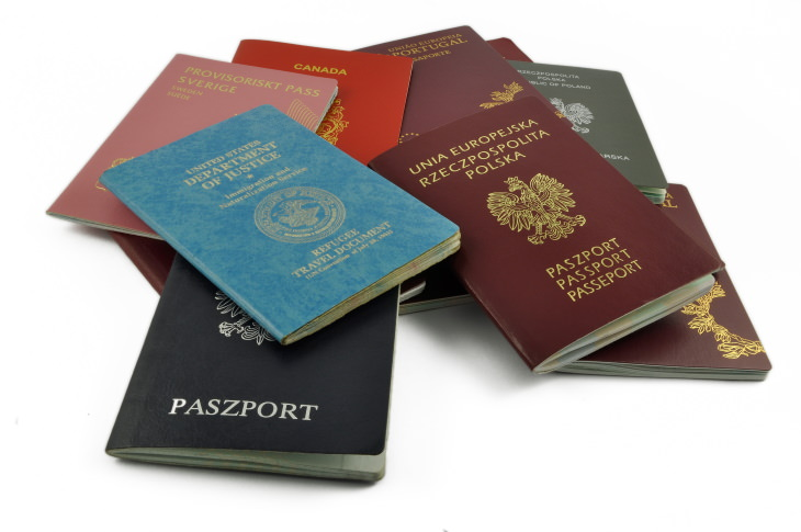 Passport Colors a set of different passports