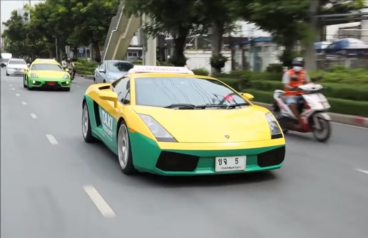 Táxis bizarros pelo mundo todo Lamborghini, Tailândia