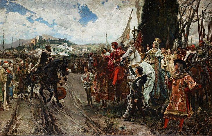 """Francisco Pradilla Ortiz . """"A Rendição de Granada"""" (1882)"""