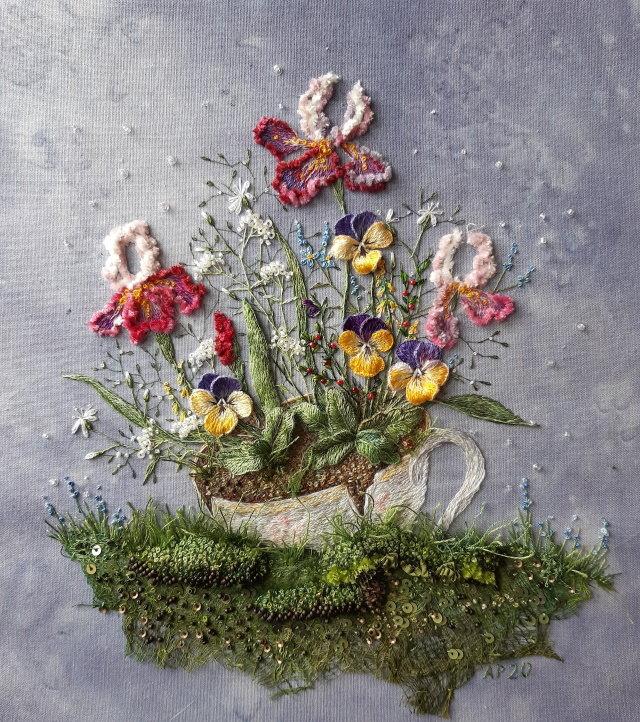 Bordados 3D por Rosa Andreeva