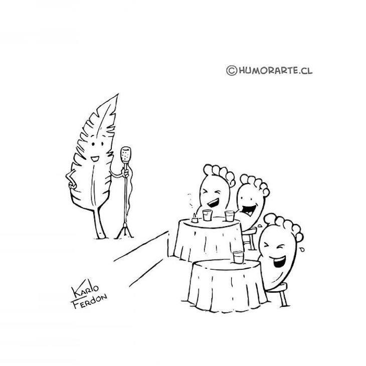 Cartuns engraçados sem palavras de Karlo Ferdon