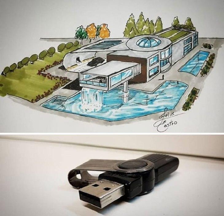 Edifícios inspirados em objetos do cotidiano