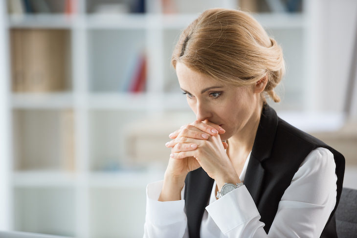 Tips for Handling a Difficult Conversation, woman thinking
