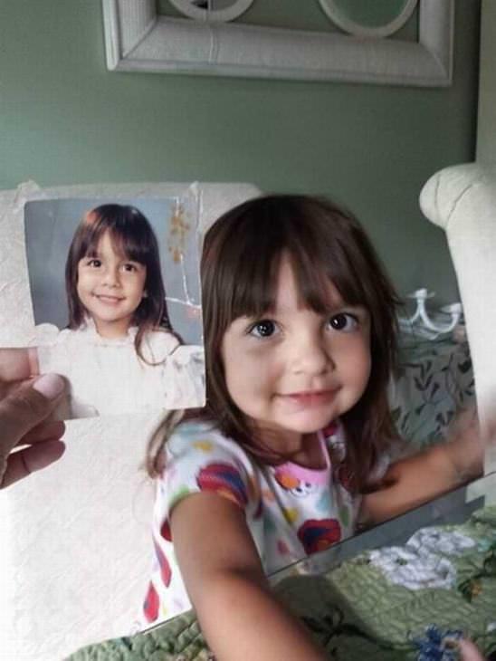 22 fotos de crianças que parecem clones de seus pais