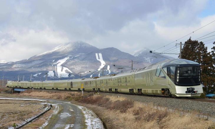 Shiki-shima Japanese train mountain