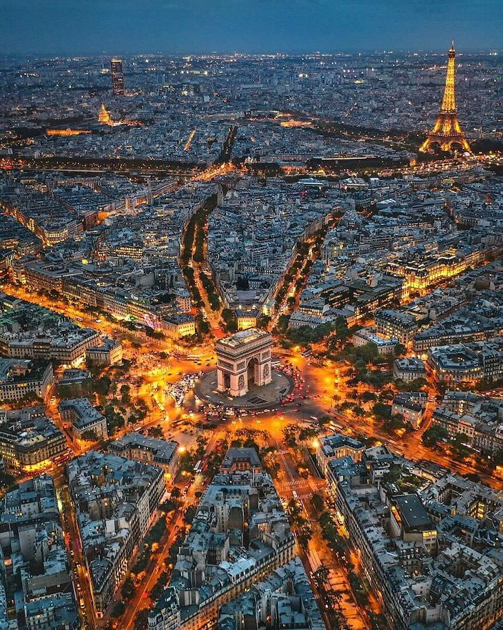 25 fotos aéreas dos belos monumentos do mundo