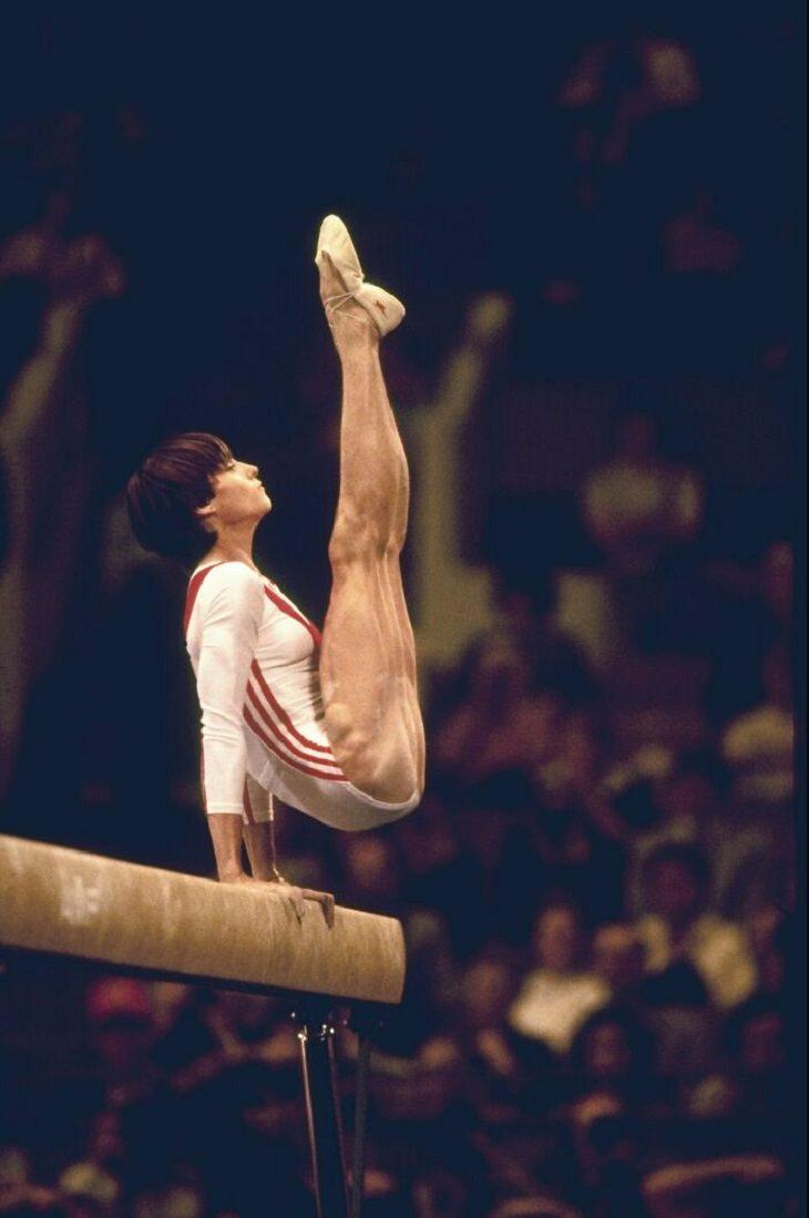 Imagens surreais de atletas olímpicos, Nadia Comaneci