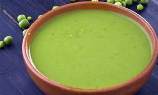 Esta Sopa de Ervilha é Linda, Gostosa, Saudável e Rápida!
