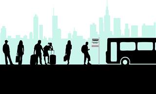 Piada: O Ônibus Lotado e a Família Com 9 Filhos