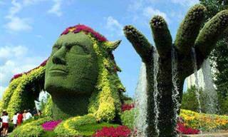 A Arte Topiária dos Jardins Chineses