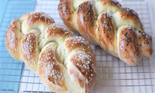 Receita do Dia: Pão Caseiro Trançado