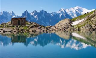 Voe acima da majestade verde dos Alpes