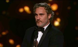 O impactante discurso de Joaquin Phoenix ao receber o Oscar