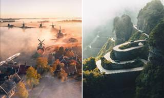 Deslumbrantes fotos aéreas de 22 lugares famosos do mundo