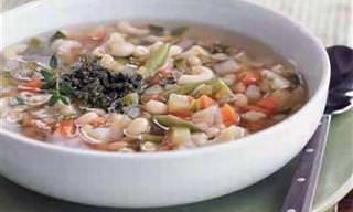 Sopa de Vegetais com Molho Pistou