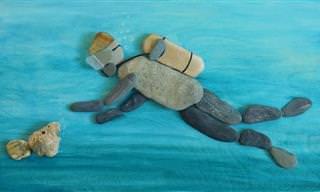 Incrível arte com pedrinhas de Szilajka Erzsébet