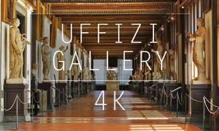 Um passeio em 4K pela famosa Galeria Uffizi em Florença