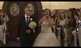Essa é a surpresa de casamento mais bela que voce já viu!