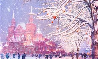 Mágicas Fotos de Moscou no Inverno