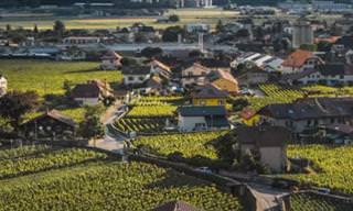 Veja Genebra e Romandia de uma perspectiva aérea