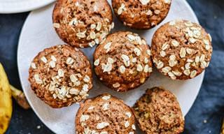 Muffins de Banana Saudáveis: Você Pode Comer Dois de Cada Vez!