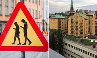 Cenas da vida cotidiana na Suécia