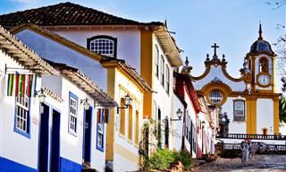 Cidades e vilas coloridas mundo afora