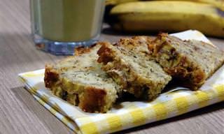 Receita de Bolo de Banana Fofinhos e Fácil