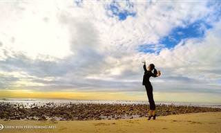 Dançando com a natureza em perfeita harmonia