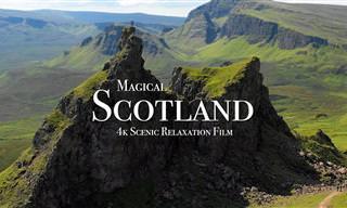 Um belo passeio pela Escócia em resolução 4K