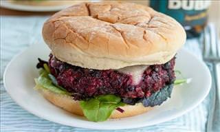 Um Delicioso e Saudável Hambúrguer Vegetariano Para Você!
