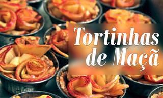 Aprenda a Preparar Essa Bela Sobremesa: Tortinha de Maçã!
