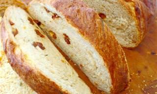 Pão de Parmesão Com Tomate Seco