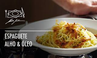 Alex Atalla ensina a fazer espaguete ao alho e óleo
