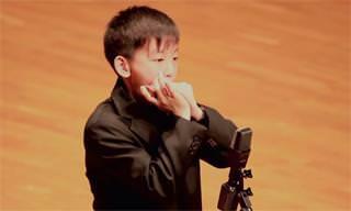 Conheça Gershwin, a criança que toca gaita magnificamente!