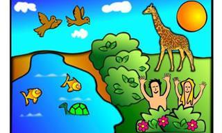 Piada: Os atributos do Criador a Adão e Eva