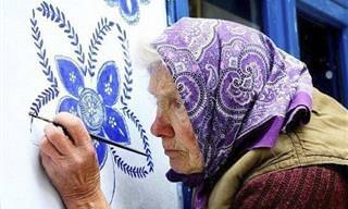 A Mulher de 90 Anos Que Está Florindo Uma Cidade Inteira