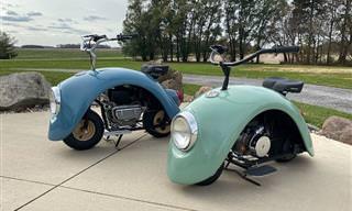 "Volkswagen ""Fuscas"" transformados em minibikes"