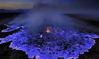 A Lava Azul de Ijen, Indonésia