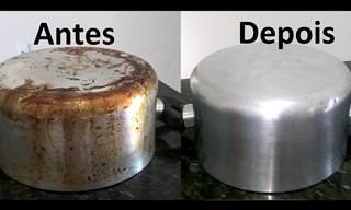 Se suas panelas têm manchas de gordura, limpe-as assim!