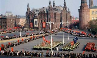 Imagens inéditas do dia a dia na antiga URSS
