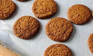 Biscoitos de Gengibre, Ideais Para o Seu Café!