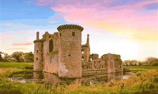 Castelos reconstruídos digitalmente revelam sua beleza