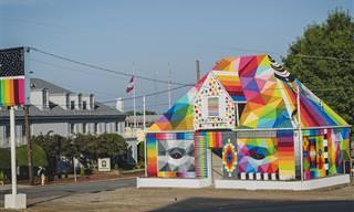 Fascinantes e coloridos murais em estados dos EUA